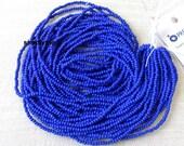COBALT BLUE Full Hank 11/0 Czech Glass Seed Beads Opaque