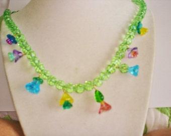 Flower Multi Color Necklace