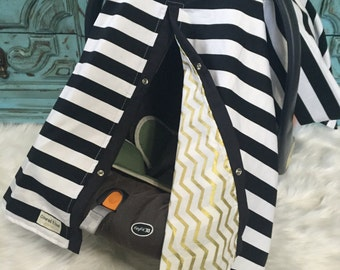 Car seat canopy Black and Gold