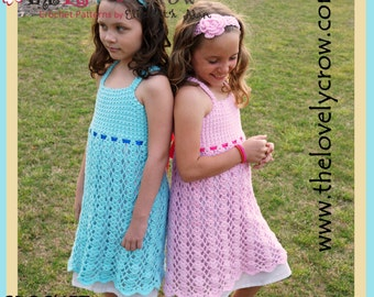 Easter Dress Crochet Pattern BELLA LENA DRESS