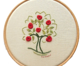 Apple tree crewelwork embroidery kit