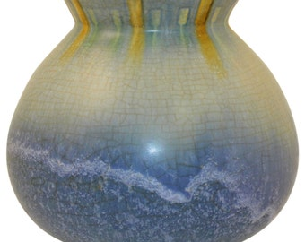 Roseville Pottery Windsor Blue Vase 547-6