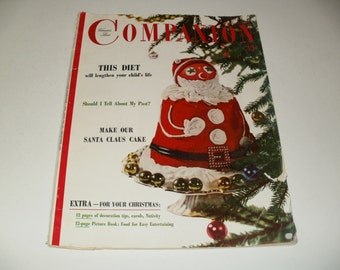 Womans Home Companion Magazine December 1953, Vintage Ads, Paper Ephemera, Retro, Collectible