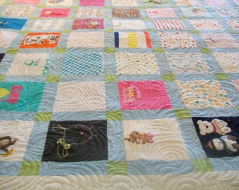 """Reerved for Dhanashree - Baby Clothes Quilts Twin Size 64"""" x 87"""" (40 to 50 Clothing Items) - 3 of 3"""