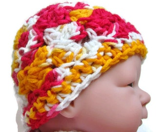 Baby Hat Crocheted, Newborn, Hospital Hat, Beanie