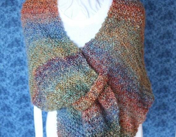 Knitting Pattern, Easy to Knit Shawl Pattern, Knitted Wrap with Tab Closure, Prayer Shawl Patterns, Knit Shawl Pattern for Homespun Yarn