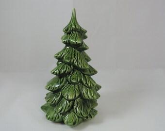 holland mold ceramic christmas tree.  1960's miniature tree.