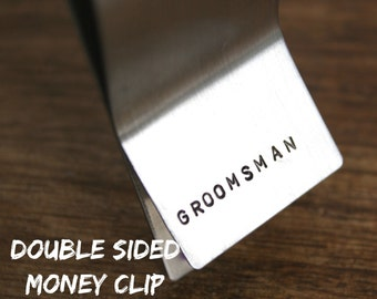 Groomsmen Money Clip Personalized Money Clip Engraved Money Clip Stainless Steel Money Men's Gift For Him Groomsman Gift for Groomsman