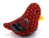Birds of a Sweater Catnip Cat Toy - Red and White with Gray