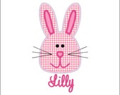 SAMPLE SALE ---Girl EASTER Bunny Shirt -Free Personalization!!!