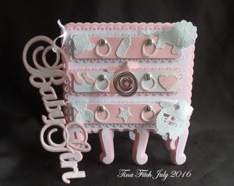 Baby Drawer Card, Cutting Files, All formats offered
