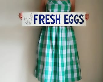 Fresh Eggs Sign, General Store Decor, Grocery Sign, Cardboard Sign, Rustic Kitchen Decor