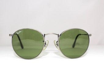 Rare RAY BAN wo608 Round Sunglasses  USA 1980s John Lennon Wire Round