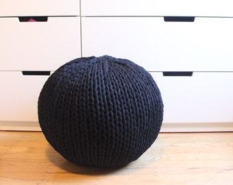 Hand knit pouf - stuff it yourself kit in 3 sizes