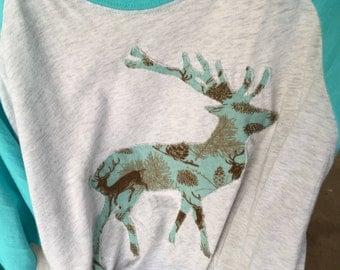 Raglan Sleeve Deer Shirt