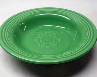 Rare Vintage FIESTA Medium Green Deep Dish Soup Bowl HLC