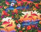 Martha Collins Falmingo Paradise Fabric by the yard