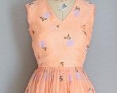 45% OFF SALE.... vintage 1970s dress • Alfred Shaheen dress • party dress • orange dress
