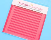 Narrow Stripe Cookie Stencil, Stripe Sugar Cookie Stencil, Stripe Fondant Stencil, Cookie Countess Cookie Stencil, Stripe Stencil