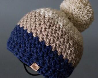 Crochet PATTERN Rainer Beanie Crochet Hat Pattern Includes 6 Sizes for Babies, Toddler, Child, Ladies and Men Crochet Beanie Pattern