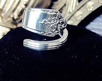 Spoon Ring size 9 1/2 Silverware Jewelry Spoon Ring