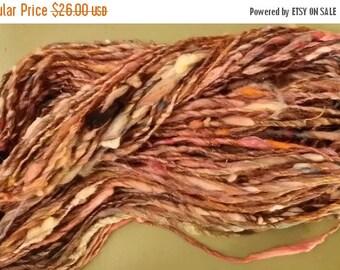 SALE - Handspun Wool Yarn Art Yarn - Earthen Vessel - 66 Yards