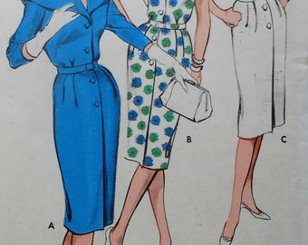 Vintage Dress Sewing Pattern UNCUT Butterick 9305 Size 14