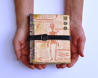 Blank Journal Hard bound Rare Oddities Brews and Potions