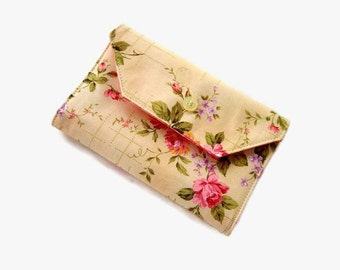 Pink and Yellow Needle Wallet - Floral Needle Organizer - Sewing Accessory - Needle Holder - Sewing Needle Case