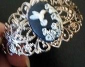 Gorgeous Hummingbird Cameo Bracelet- 25% off Jewelry SALE