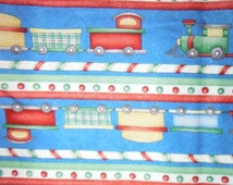 Fun  Train Fabric--- Hard Find--LAST Piece