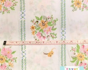Vintage Pillowcase with Colorful Floral