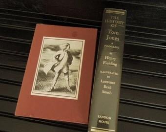 History of Tom Jones - Slip Cased Gift Book - Book for Decor - Burgundy Wine  Classic - Vintage Book