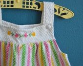Vintage Toddler Girl's Striped Knit Tunic / Top by Carter's - Size 18 Months