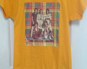 Vintage Bay City Roller 1975 Souvenir Shirt Fruit Of The Loom Made In The USA
