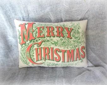 Holiday pillows   Christmas Pillow   Merry Christmas pillow   Vintage pillow   Holiday pillow   Vintage Christmas   Christmas decor