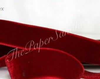 """Burgundy Velvet Ribbon, 3/4"""" wide by the yard, Velvet Chokers, Winter Wedding, Gift Wrapping, Christmas Ribbon"""