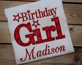 Personalized Birthday Girl American Girl Birthday Shirt Number