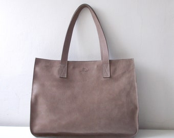 Leather tote,Every day bag, Woman bag