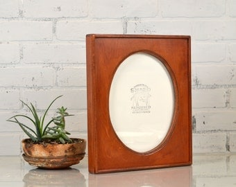 """8x10"""" Oval Opening Picture Frame with Rounded Ridge Edge and in Color OF YOUR CHOICE - 8x10 Picture Frame - Decorative 8x10 Frame"""
