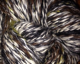 "225 Yards Huacaya Alpaca 2-Ply yarn ""Chocolate Chip"""