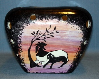 Goat Sihouette Votive Candle Holder, Candle Shade, Luminary