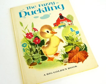 The Fuzzy Duckling by Jane Werner 1963 Hc / Pictures by Alice and Martin Provensen / Vintage Childrens Big Golden Book