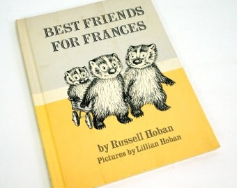Best Friends for Frances by Russell Hoban 1969 Hc / Children's Book of the Year / Vintage Childrens Book