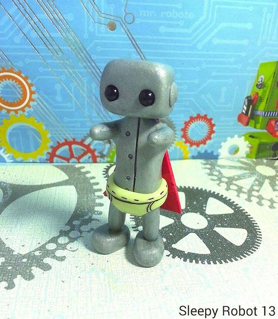 Super Hero Robot w/ Glow n The Dark Underpants