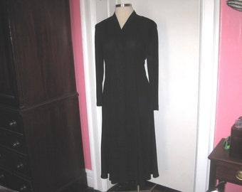 Long Black Dress button down Chaus