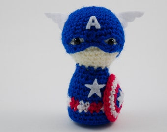 Captain America amigurumi crochet Avengers Marvel