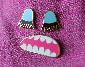 Lashes Monster Pin Set