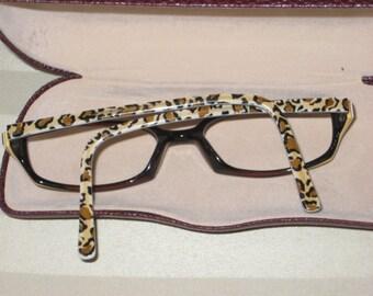 Vintage Designer Norma Kamali Eyewear Frames/Safari Print Eyewear