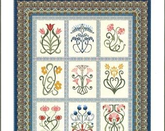 Arts & Crafts Sampler Quilt Pattern Michele Hill Block of Month Set
